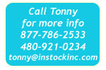 Call Tonny at InStock 877-786-2533!